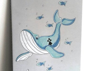 Moleskine Cahier, Large notebook Whale, Brittany, Christmas