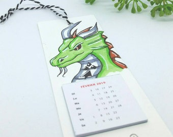 2019 wall calendar, unique calendar, dragon, dragon calendar