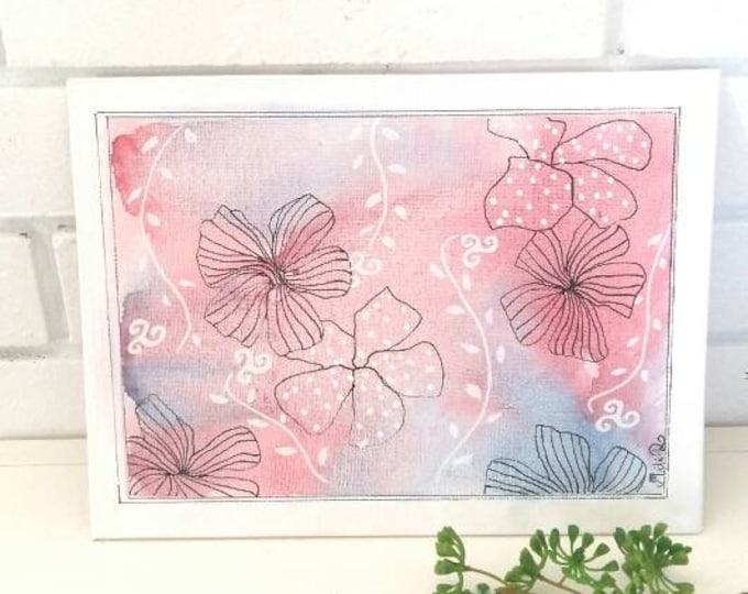 Featured listing image: Painting painting, floral art, graphic art, decoration gift, flower lover