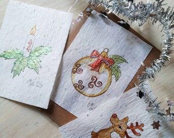 Set of 3 cards to plant Christmas special.