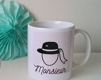 "Mug Illustré ""Monsieur"""