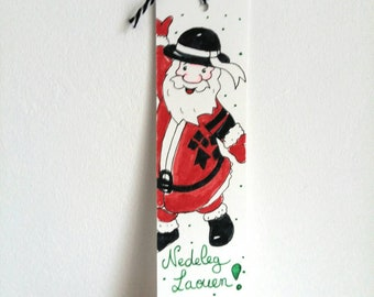Bookmark Christmas, bookmark, watercolor paper, gift for reader