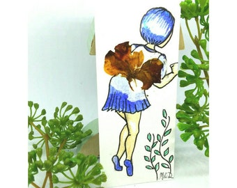Bookmark paper paper fairy dried flowers