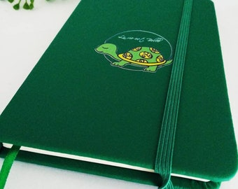 Fancy notebook with a turtle