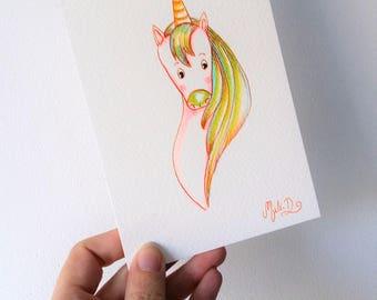 Carte postale ma jolie licorne