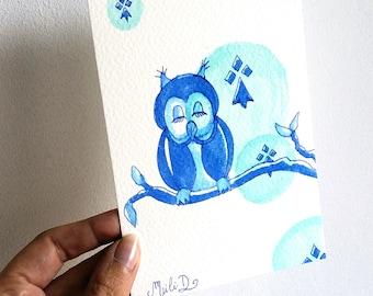 """Carte postale """"Owl"""""""