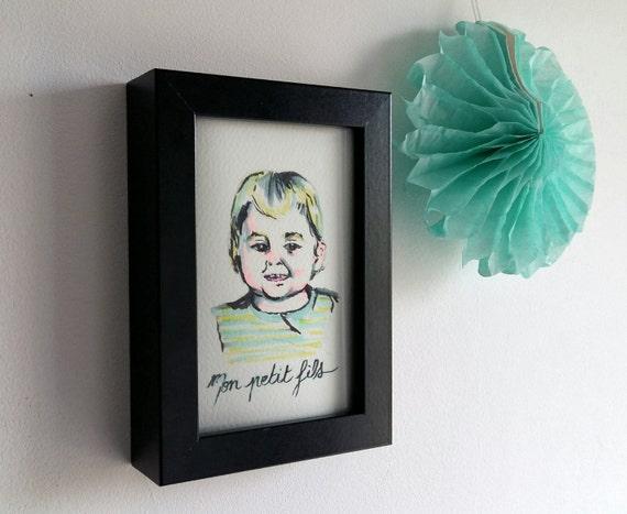 art original cadeau grand m re art moderne peinture de etsy. Black Bedroom Furniture Sets. Home Design Ideas