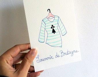 """Carte postale """"Marinière"""""""