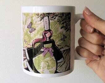 "Mug Illustré ""Bigoudene des champs """