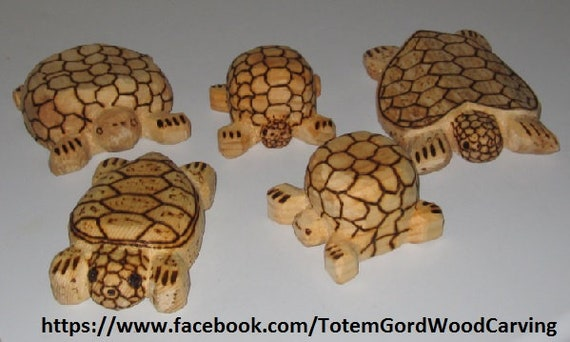 Waldorf turtles hand carved  wood toys leaning tools home schooling school teacher aid assorted sizes set of 5 gift for any occasion animals