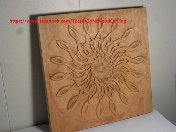 Musical Treble Clef Wheel hand carved relief 11 x 11 inches great gift for musical people, home decor