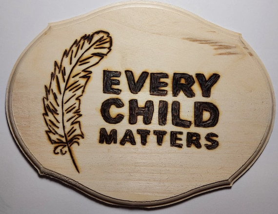 SHOW YOUR SUPPORT Hand made woodburning 5 x 7 inch slit in back for wall hanging 50 percent of profit of each order going to local charity