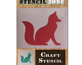 A4 Size Stencil - Small Cats Stood Playing Animal pet Mylar air Brush Painting Kids Wall Art Stencil