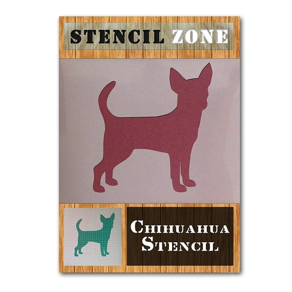 Smooth Coat Chihuahua Mylar Painting Wall Art Stencil Home Decor DIY Art Crafts
