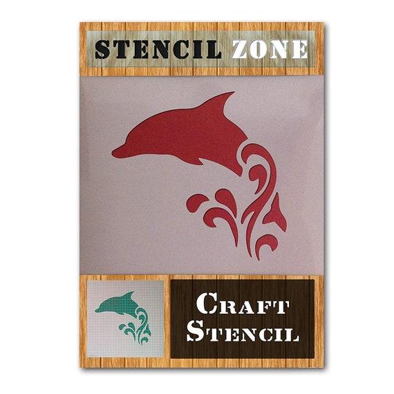 Dolphin Sea Animal Mammal Mylar Airbrush Painting Wall Art Crafts Stencil 3