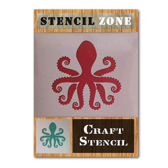 Octopus Stencil Craft Stencil Airbrush Card making Animal Stencil