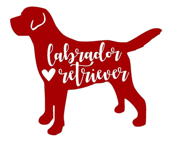 "8/"" Labrador Retriever vinyl decal//sticker dog animal pet puppy lab hunt"