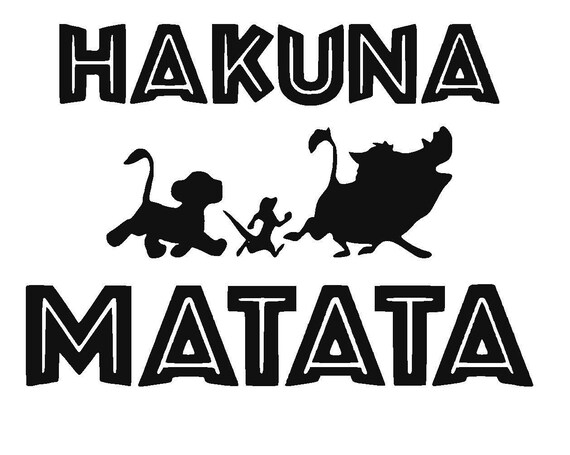 Disney s The Lion King Hakuna Matata Vinyl Decal Simba   Etsy 0d39d9a7e8