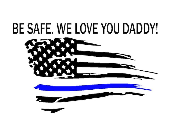 Thin Blue Line Tattered Flag Sticker 2 Pack Police Usa Vinyl Decal Car Truck Ebay