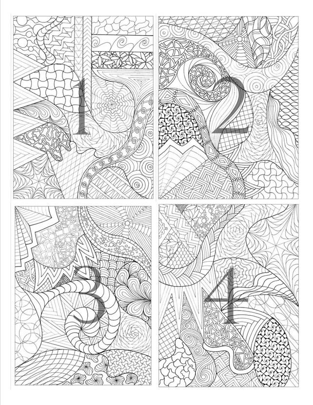 Colorear páginas de mano set de 4   Etsy