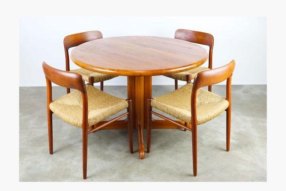 Credenza Danese : Danese set sala da pranzo in massello di teak niels otto etsy
