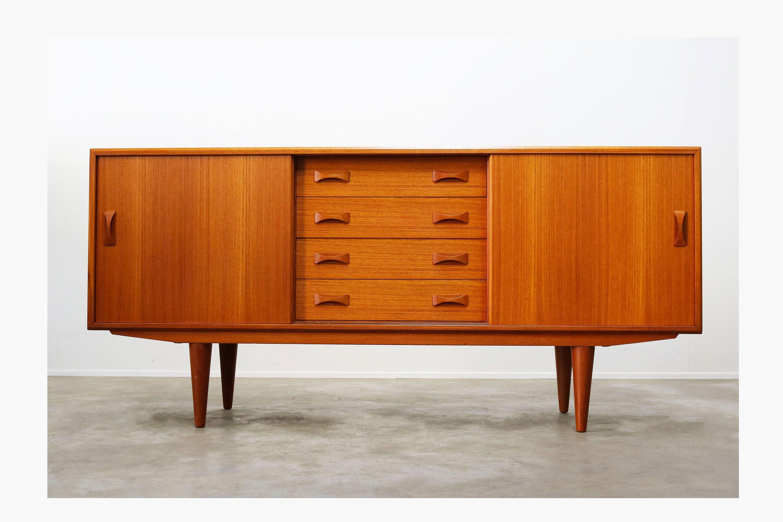 Danish Design Credenza : Danish design sideboard credenza by clausen son s teak etsy