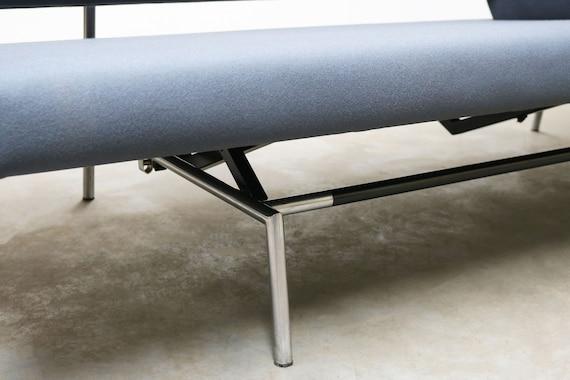 minimaliste visser des Spectrum chrome hollandaisDaybed pour BR02 par années 1960 Vintage design Martin Canapé gris moderniste hCxQdtBsro