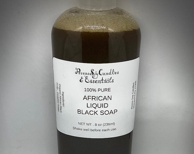 Authentic African Liquid Black Soap/ Face & Body Wash / Liquid Black Soap