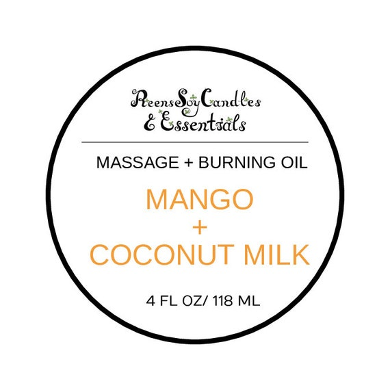 Organic Massage Oil / Burning oil / Organic Coconut oIl / Fragrance oil