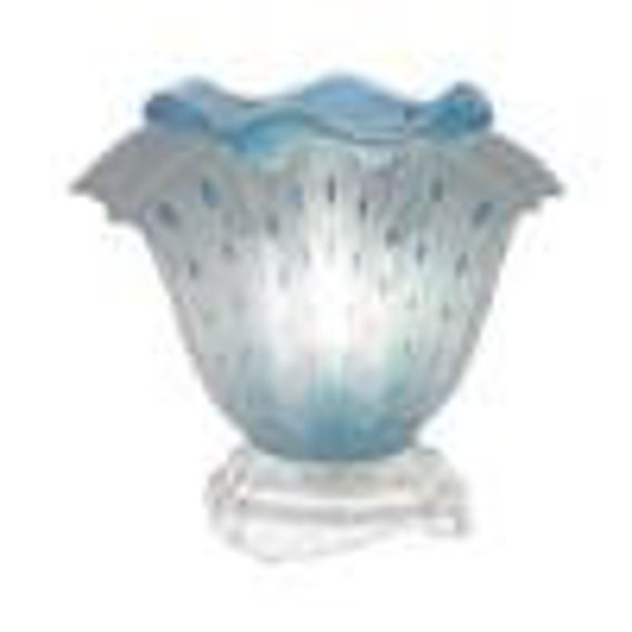 Fragrance Lamp Baby blue / With 2 or 4  oz Fragrance/ Massage oil of our choice.