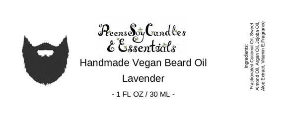 Handmade Vegan Beard Oil