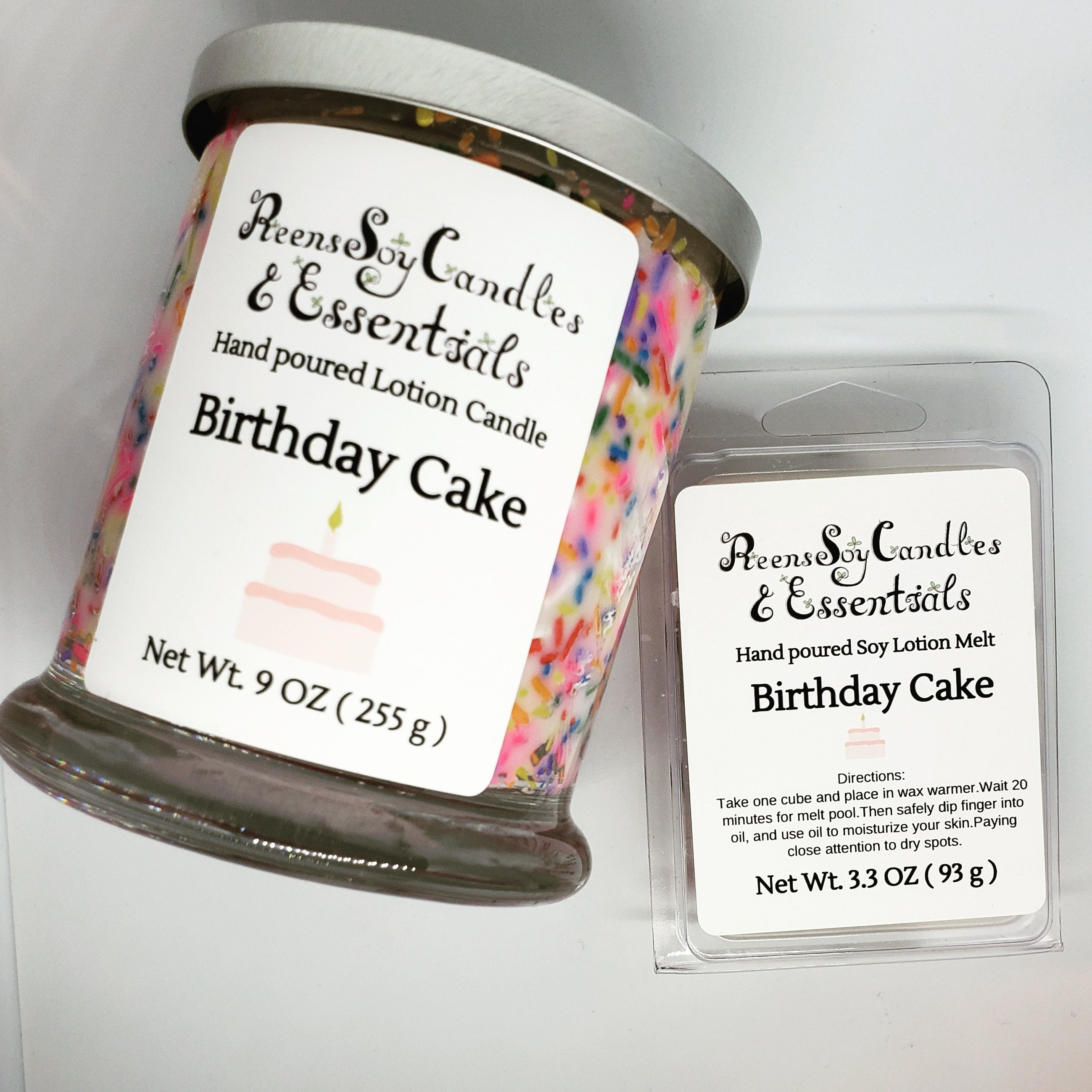 Limited Edition Birthday Cake Soy Lotion Candle 1