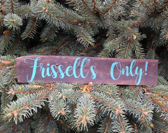 Rustic Pallet Wood Last Name Only Sign, Custom Last Name Only Sign, Custom Pallet Sign, Last Name Sign, Pallet Sign, Custom Family Sign