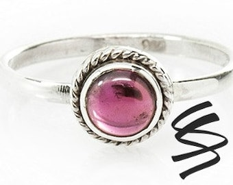 Cute Garnet Ring Silver Garnet Ring Garnet Jewelry Dainty Garnet Gemstone Ring Sterling Silver Stone Ring January Birthstone Garnet Gemstone