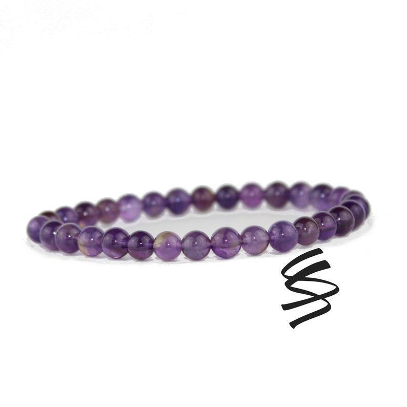 6a1d422549770 Amethyst Bracelet, February Birthstone, Amethyst Jewelry, Healing Chakra,  Natural Amethyst, Meditation Bracelet, Quartz Crystal Gemstone
