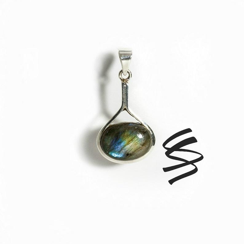 becc8c947 Labradorite Gemstone Jewelry Labradorite Silver Pendant | Etsy