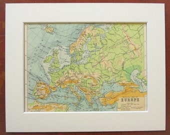 Europe physical map | Etsy