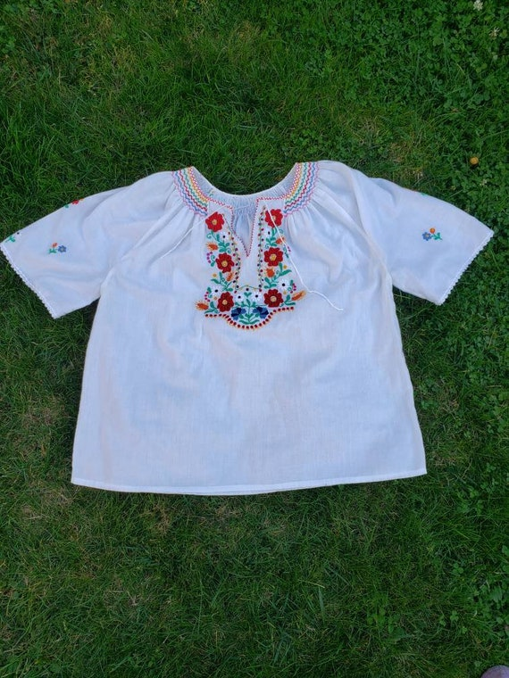 Rare! Authentic 70's Handmade Embroidered Hungaria