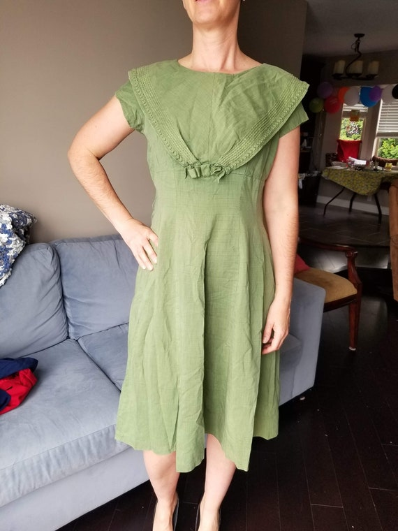 Amazing Volup 50s Pin Up Rockabilly Green Navy Cot