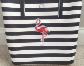 Flamingo tote bag Embroidered tote bag Personalized tote bag Monogrammed tote bag Scripture Tote Bag Custom design Gift for her wildlife