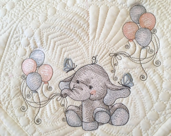 Embroidered  Personalization on an Animal Print Small - 17 x 20 Baby Blankie