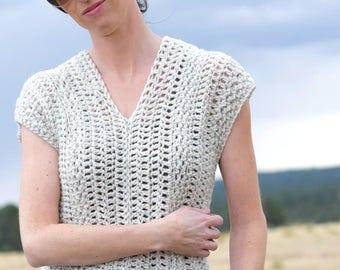 Easy Sleeveless Crochet Top Pattern Jeans Vintage Easy Top Etsy