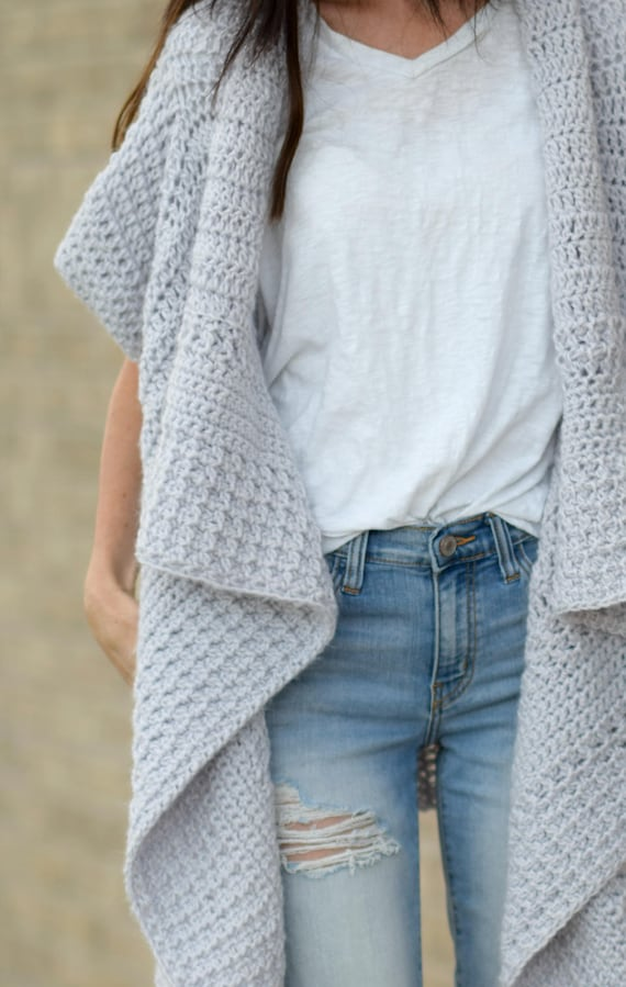 5dabf7e72 Cascading Kimono Crochet Cardigan Easy Crochet Cardigan