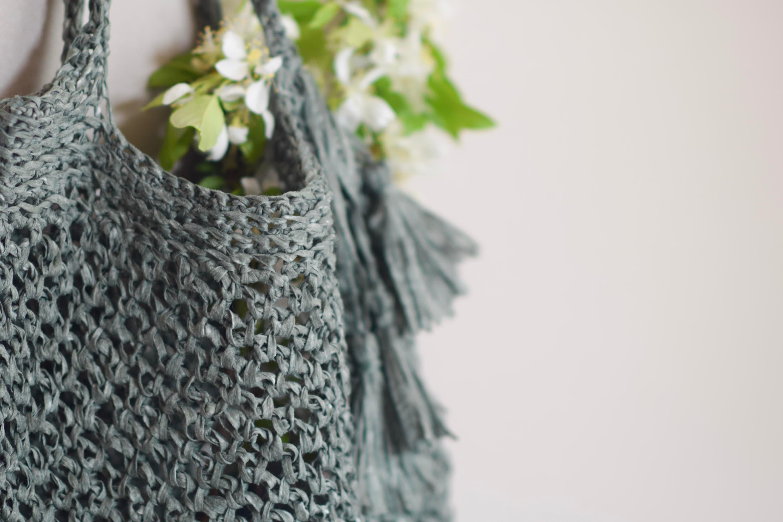 Crocheted Market Tote Pattern Easy Bag Pattern Palmetto Etsy