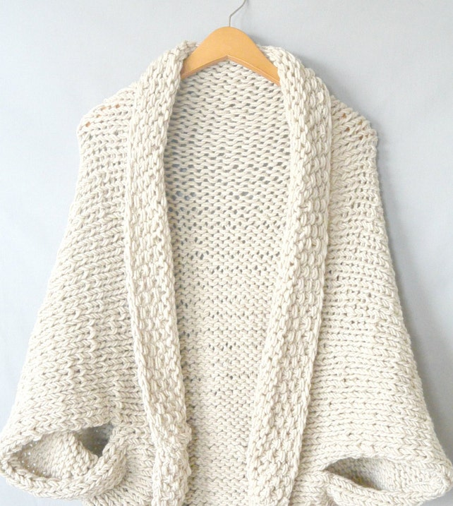 Knit Sweater Pattern Knit Blanket Sweater Knitting Pattern | Etsy