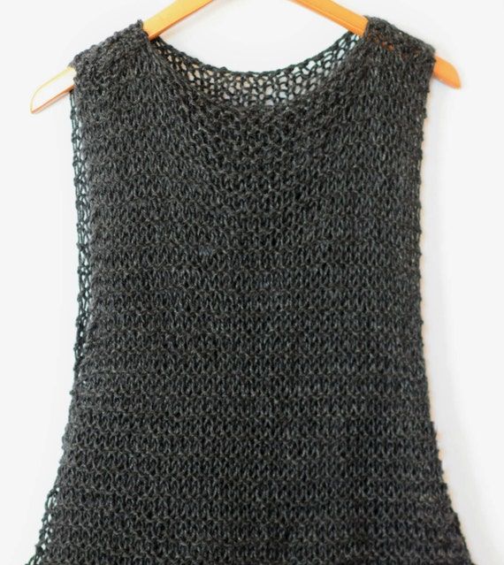 Knit Tank Top Pattern Knit Tank Knitting Pattern Sleeveless Etsy