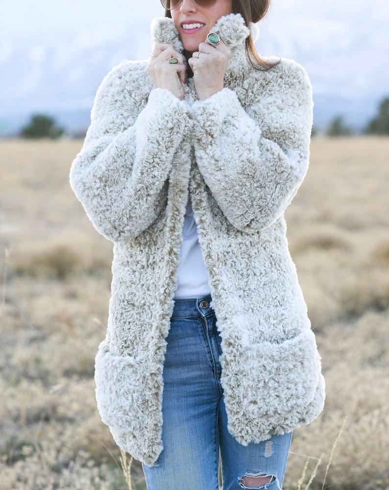 Faux Fur Coat Crochet Pattern Teddy Bear Coat Crochet image 0