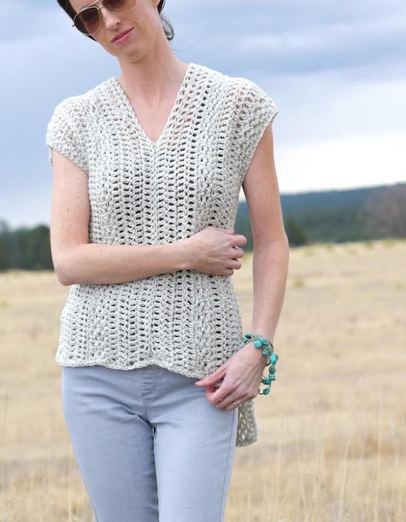 Crochet Shirt Pattern Crocheted Poncho Pattern Crocheted Etsy