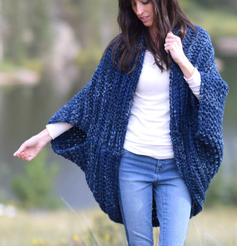 2745404ef7 Cocoon Blanket Sweater Crocheted Cacoon Pattern Crocheted