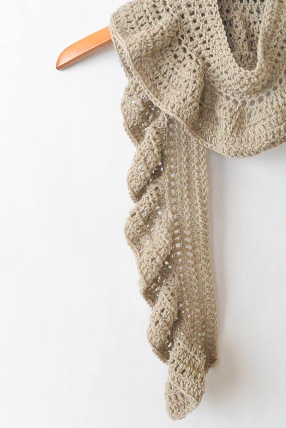 Crocheted Scarf Pattern Easy Pattern Ruffle Scarf Pattern | Etsy